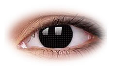 ColourVue Crazy Black Screen Contact Lenses
