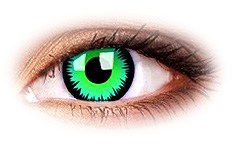 ColourVue Crazy Green Werewolf Contact Lenses