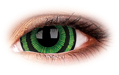 ColourVue Mini Sclera Green Goblin 17mm Contact Lenses