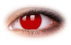 ColourVue Crazy Red Screen Contact Lenses