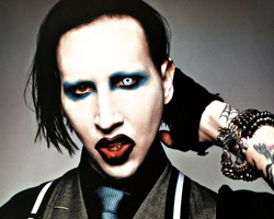 Marilyn Manson white contact lenses