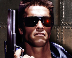 Terminator Glow Red Contact Lenses