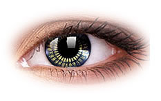 ColourVue Star and Jewel Black Gold Contact Lenses