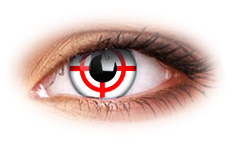 ColourVue Crazy Red Target Contact Lenses