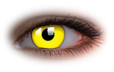 ColourVue Glow Yellow Contact Lenses