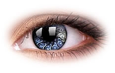 ColourVue Star and Jewel Silver Jewel Contact Lenses