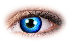ColourVue Space Blue Contact Lenses