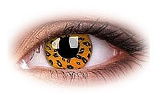 ColourVue Yellow Leopard Colored Contact Lenses
