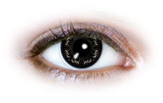 Neo Cosmo - Swirly Black Contact Lenses (N509)